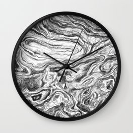 Point Lobos Stone Wall Clock