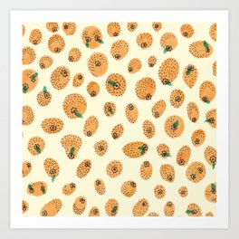 Orange range Art Print