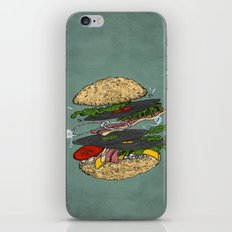 Vinyl burger iPhone & iPod Skin