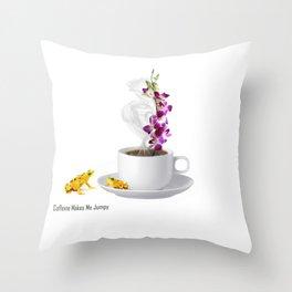 Caffeine Makes Me Jumpy Throw Pillow