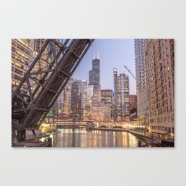 Kinzie St. Railroad Bridge Canvas Print