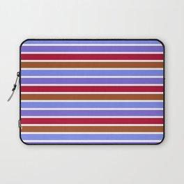Modern violet red brown geometrical stripes pattern Laptop Sleeve