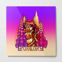 Foxglove Metal Print