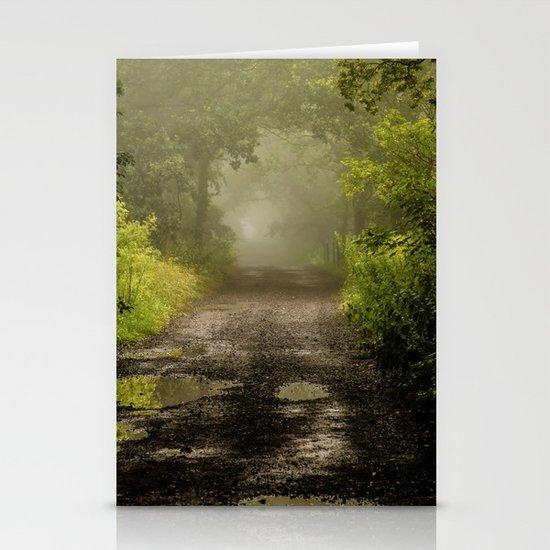 Misty Woodland Lane II Stationery Cards