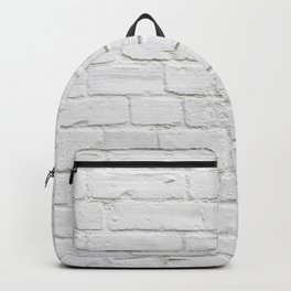 White Brick Wall Backpack