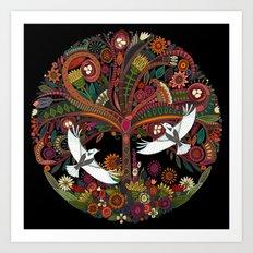tree of life black Art Print
