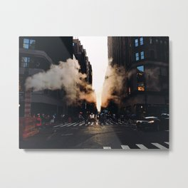 Heading to Time Square. Metal Print