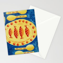 Fish on Plates Stationery Cards