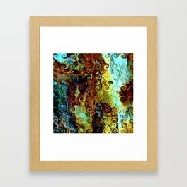 Colorful Wood Spirals Background #Abstract #Nature Framed Art Print