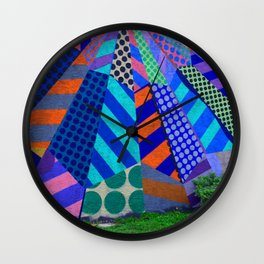 The Patterns on the Wall Wall Clock