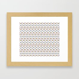 Rainbow Bully repeat pattern (small) on white background Framed Art Print