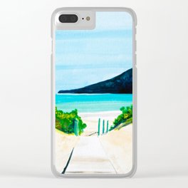 Hello Paradise Clear iPhone Case