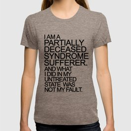PDS Sufferer B&W T-shirt