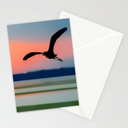 Seagull Sunset Abstract Stationery Cards