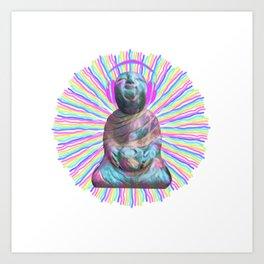 Electric Budha Art Print