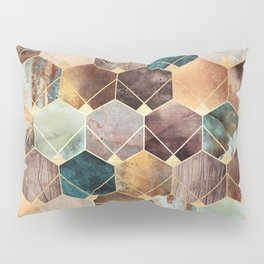 Natural Hexagons And Diamonds Pillow Sham