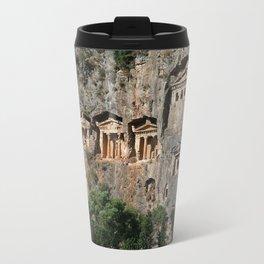 Lycian Tombs at Dalyan Close Up Travel Mug