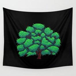 Oak Tree Pixelart Wall Tapestry