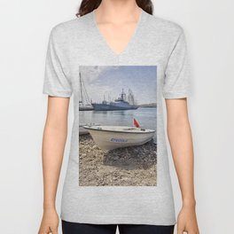 When I Grow Up I Want To Be A Warship Unisex V-Neck