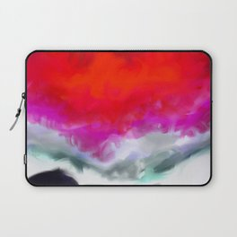 Abstract in Red, White and Purple Laptop Sleeve