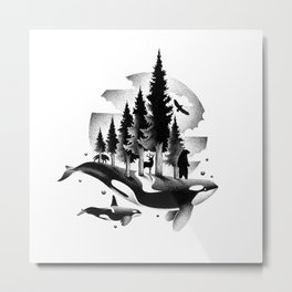 GREETINGS FROM THE PACIFIC NORTHWEST Metal Print