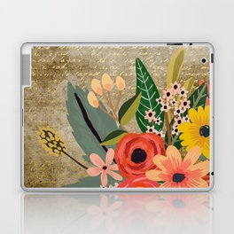 Flower bouquet letter gold #10 Laptop & iPad Skin