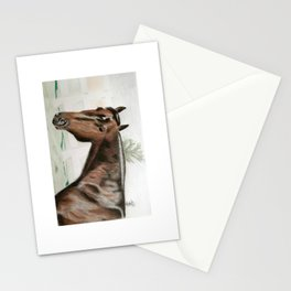 Horse in the Pastor Stationery Cards