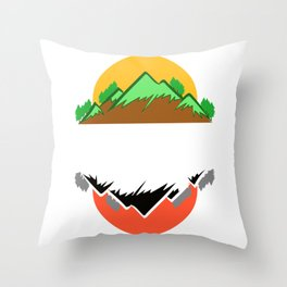 """A Nice Picking Tee For A Picky You Saying """"Pick A Side"""" T-shirt Design Trees Mountains Nature Land Throw Pillow"""