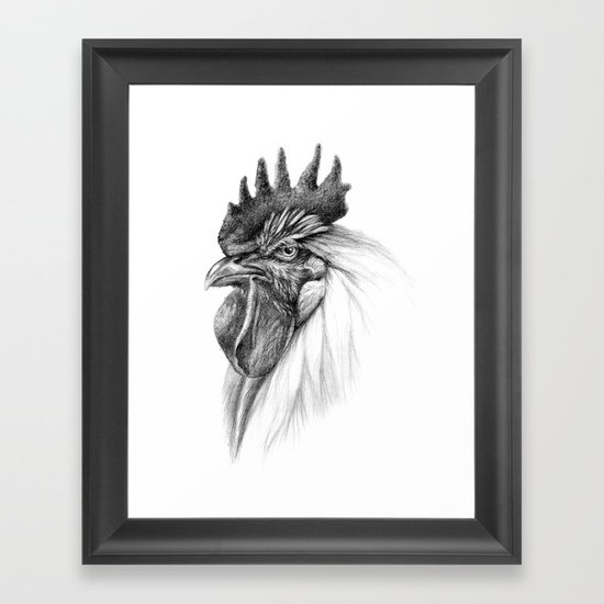 The Rooster SK065 Framed Art Print