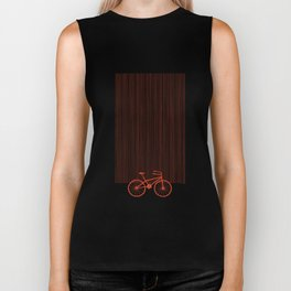 Red Bike by Friztin Biker Tank