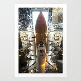 684. Space Shuttle Endeavour Art Print