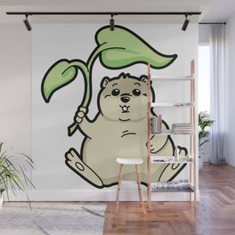 Little Chubby Happy Gopher Shading Itself Wall Mural