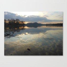 Reflections at dawn Canvas Print