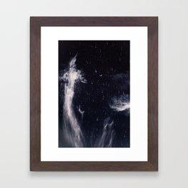 Falling stars II Framed Art Print