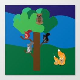A woodland scene Canvas Print