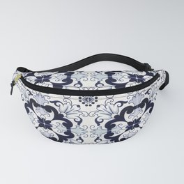 Portuguese Tiles Azulejos Blue and White Pattern Fanny Pack