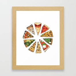 Feast of St. Pizza: Philadelphia Edition Framed Art Print