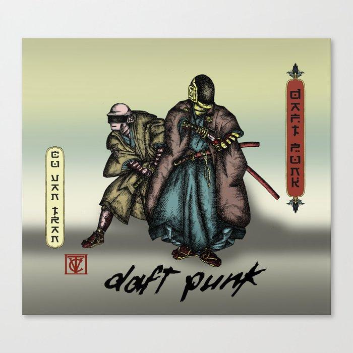Samurai Daft Punk Leinwanddruck
