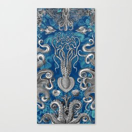 The Kraken (Blue - No Text) Canvas Print
