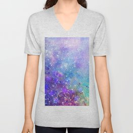 Colorful Deep Space Background Unisex V-Neck