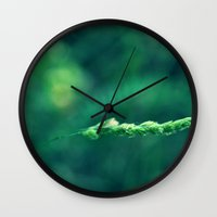 alone Wall Clocks featuring Alone by Arevik Martirosyan