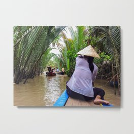Tributary of the Mekong Delta Metal Print