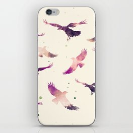 CORAL PINK RAVEN PATTERN iPhone Skin
