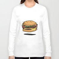 burger Long Sleeve T-shirts featuring BURGER by Anthony Morell