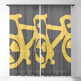 Radioactive Bicycle Sheer Curtain