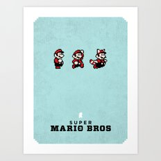 Super Mario Bros 3 Art Print