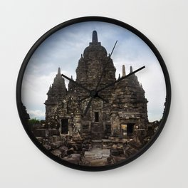 Prambanan temple indonesia jogjakarta Wall Clock