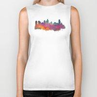 minneapolis Biker Tanks featuring Minneapolis Skyline  by jbjart