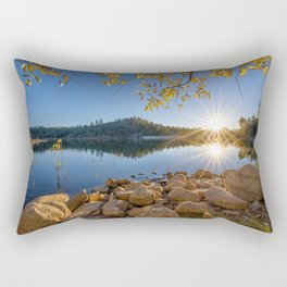Goldwater Lake 4k autumn beautiful nature Prescott Arizona USA America sunset Rectangular Pillow
