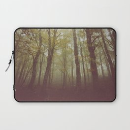Wood in winter with fog Laptop Sleeve